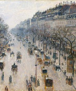 Camille Pissarro - The Boulevard Montmartre on a Winter Morning - 1897