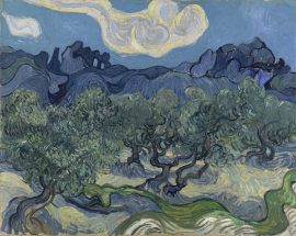 Olive Trees with the Alpilles in the Background - 1889