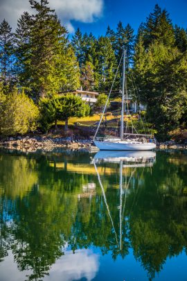 A Sailboat Floating in Sunshine Coast